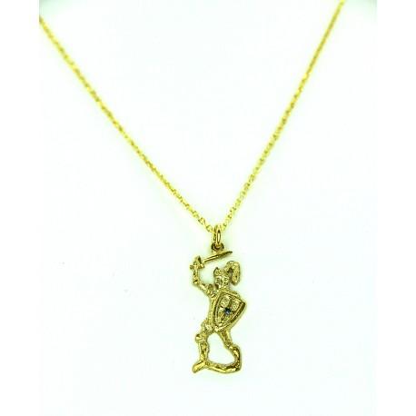 Collana con pupo siciliano in argento dorato