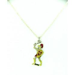 Collana con pupo siciliano in argento