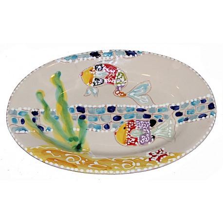 Piatto ovale pesci