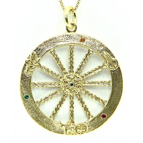 Collana con tipica ruota del carretto siciliano