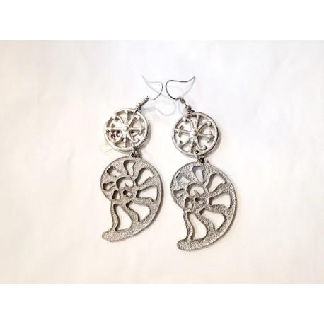 Orecchini in metallo con Simbolo di Lipari