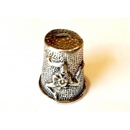 Ditale in argento con Trinacria