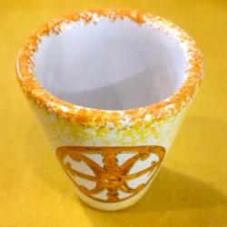 Bicchierini Limoncello Simbolo di Lipari arancione