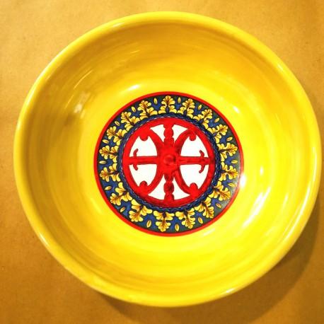 Ciotola Simbolo di Lipari rosso 14 cm