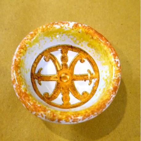 Ciotola Simbolo di Lipari arancione d. 5