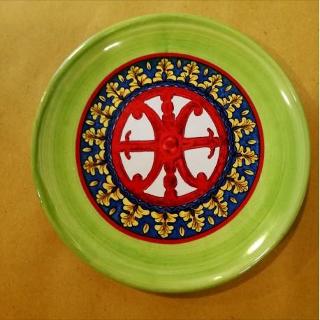 Piattino Simbolo di Lipari rosso 12 cm