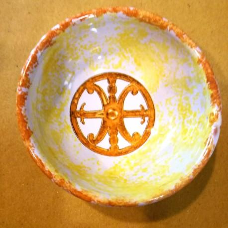 Ciotola Simbolo di Lipari arancione d. 7