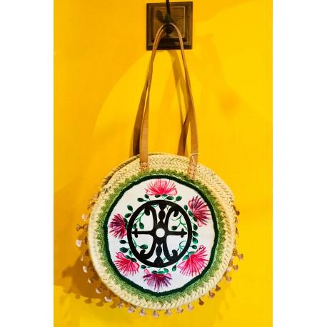 Coffa d'autore Simbolo di Lipari e fiori del cappero