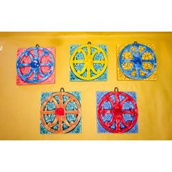 Mattonella Simbolo di Lipari 15x15cm