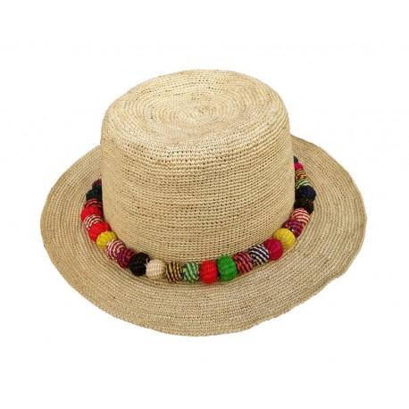 Cappello Panama originale modello Crochet Bora Bora