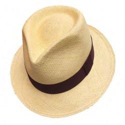 Cappello Panama originale modello Adrien naturale scuro