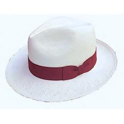 Cappello Panama originale modello Classico banda rossa