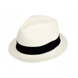 Cappello Panama originale modello Adrien banda colorata