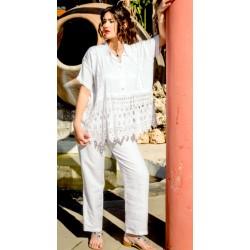 Pantalone bianco in lino - Sartoria Positano