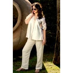Pantalone beige in lino - Sartoria Positano