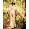 Pantalone a palazzo beige in lino - Sartoria Brunella Positano