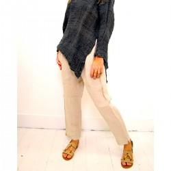 Pantalone beige a sigaretta - Sartoria Brunella Positano
