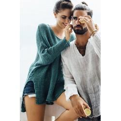 Camicia lino sfumata modello sandokan