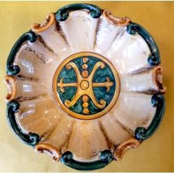 Ciotola Barocca Simbolo di Lipari diametro 20 cm