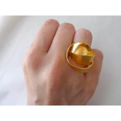 Anello in rame placcato oro