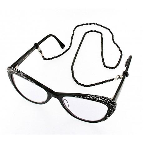 Collana per occhiali in ossidiana