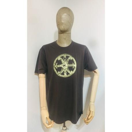 Maglietta uomo marrone con Simbolo di Lipari