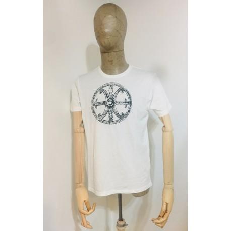 Maglietta uomo bianca con Simbolo di Lipari