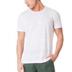 T-shirt Uomo In lino bianca ZEYBRA