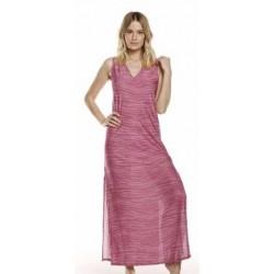 Abito lungo zebrato rosa Cotazur