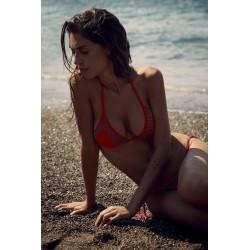 Bikini triangolo borchie rosso FISICO