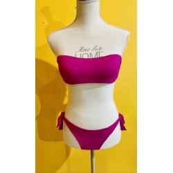Bikini aFascia coppa estraibile e slip fiocco brasiliani FISICO