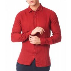 Camicia in lino rosso Zeybra