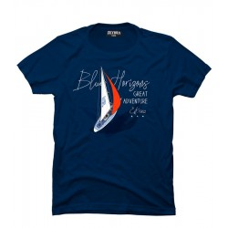 T-shirt uomo blu in cotone Zeybra