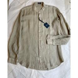 Camicia lino sabbia coreana Zeybra