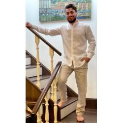Pantalone uomo in lino di Rosetta Positano