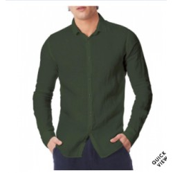 Camicia in lino verde militare Zeybra
