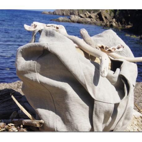 Borsa in lino con il simbolo di Lipari