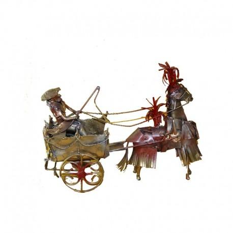 Cavaliere in ferro battuto con simbolo di Lipari