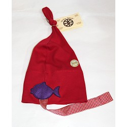 Cappello con pesci e simbolo di Lipari