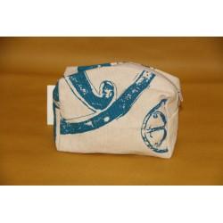 Pochette in lino con il simbolo di Lipari - piccola