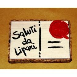 Magnete cartolina Simbolo di Lipari