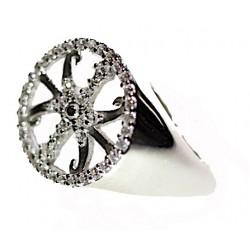 Anello Simbolo di Lipari in argento e zirconi