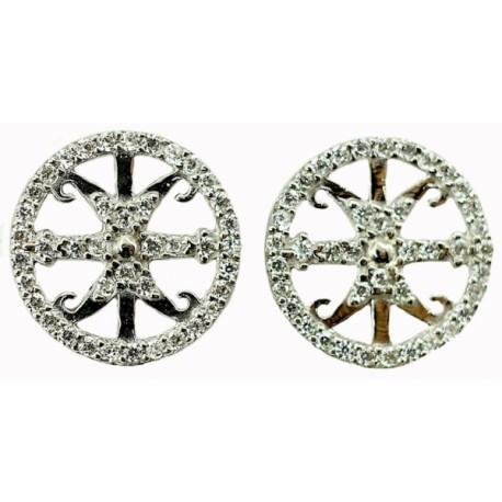Orecchini Simbolo di Lipari argento e zirconi