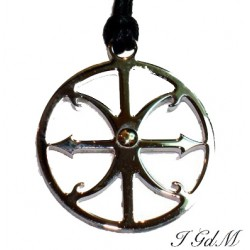 Ciondolo Simbolo di Lipari in acciaio e oro