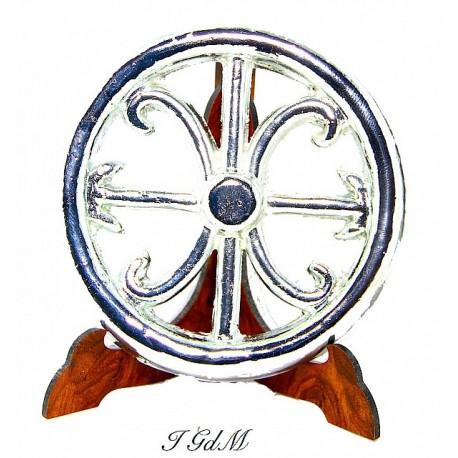 Soprammobile Simbolo di Lipari placcato argento